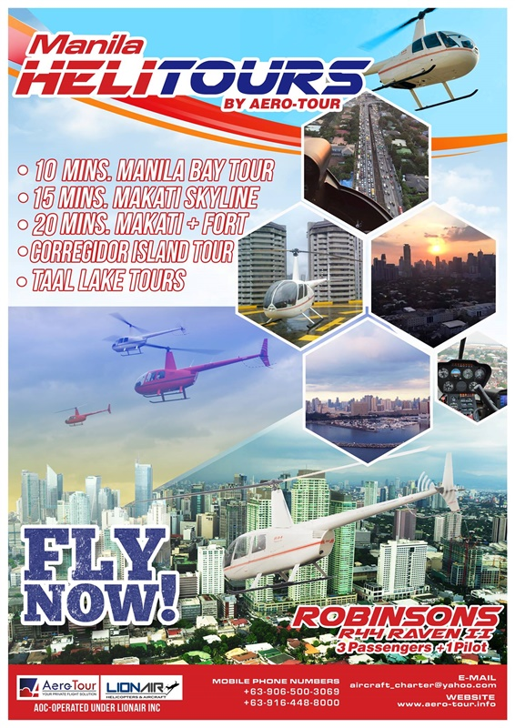 Aero-Tour – Helicopter Tour in Manila for Php. 3,500 / pax 10 mins Flight -HeliTour Manila
